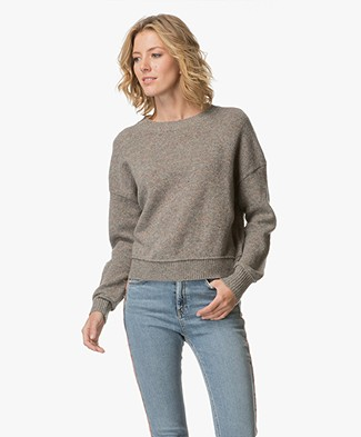 Filippa K Cropped Lambswool Pullover - Taupe Mêlee