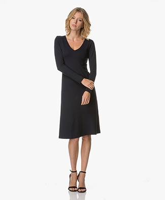 Filippa K V-Neck Jurk - Navy
