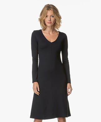 Filippa K V-Neck Dress - Navy