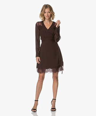 FWSS Kristin Silk Wrap Dress - Winetasting
