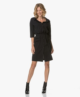 JapanTKY Itsu Shirt Dress Dress - Black