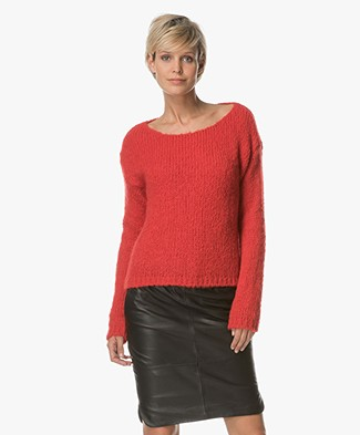 BY-BAR Bella Knitted Pullover - Red
