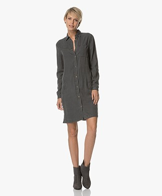BY-BAR Kyra Shirt Dress - Off-black