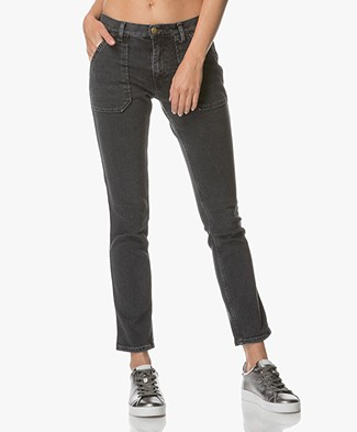 Ba&sh Sally Girlfriend Jeans - Dark Grey