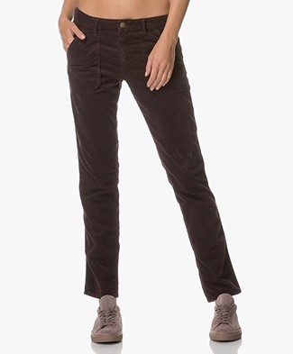 Ba&sh Sally Corduroy Pants - Eggplant