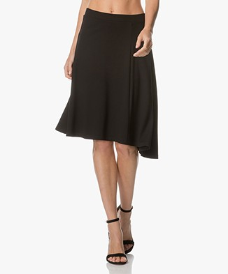 Filippa K Side Drape Jersey Skirt - Black