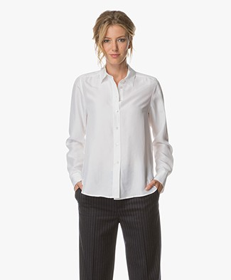Filippa K Washed Silk Blouse - Wit