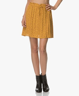 Marie Sixtine Cleophe Dotty Viscose Skirt - Yellow