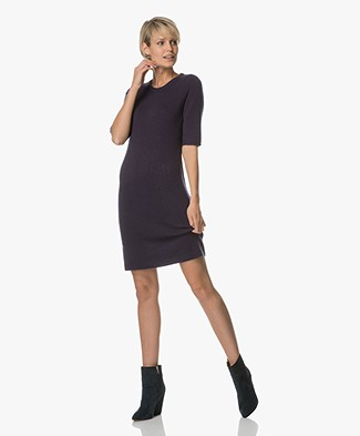 Repeat Wool and Cashmere Dress - Dark Blue
