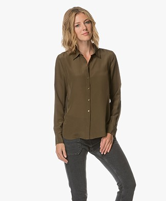 FWSS Left & Right Blouse - Bronze Green