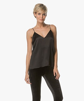 ANINE BING Gwenyeth Silk Camisole - Black