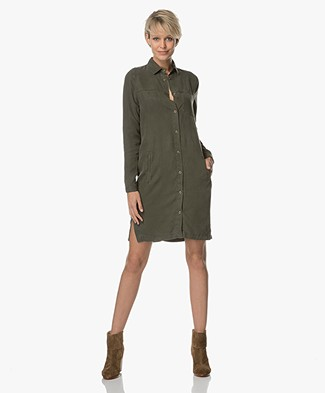 BY-BAR Kyra Shirt Dress - Olive Green
