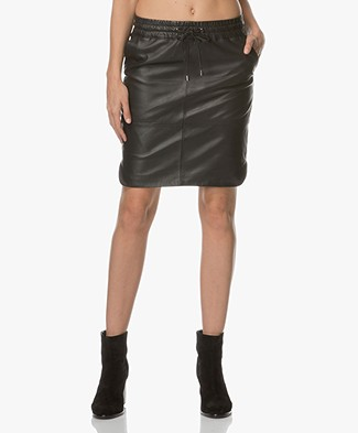 BY-BAR Sporty Leather Skirt - Black