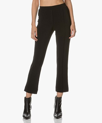 By Malene Birger Pevica Cropped Pantalon - Zwart