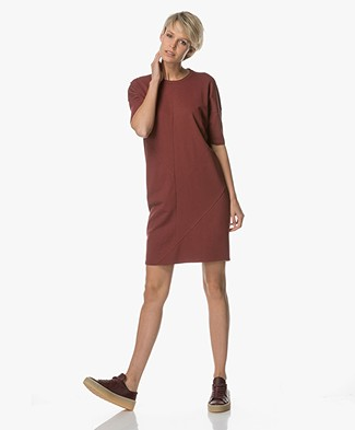 Denham Unite Jersey Dress - Burnt Red