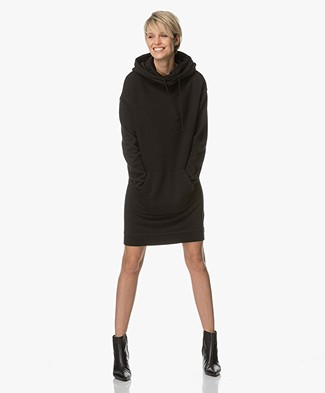 Drykorn Cenia Long Hooded Sweater - Black