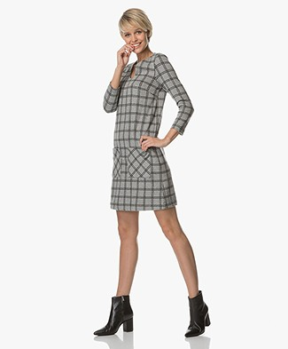Indi & Cold Jersey Checkered Dress - Vigore
