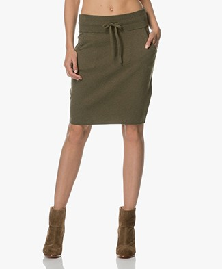 Josephine & Co Anders Knit Skirt - Army Green