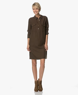 MKT Studio Rameha Lyocell Tunic Dress - Khaki