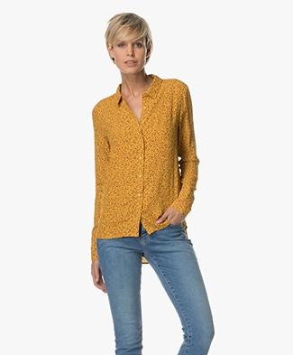 Marie Sixtine Cleophe Dotty Viscose Blouse - Geel