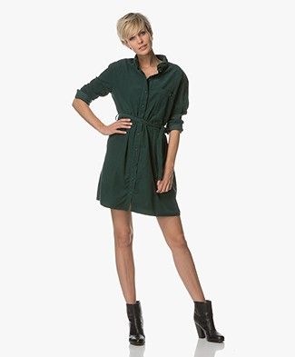 Marie Sixtine Cyprien Corduroy Shirt Dress - Green