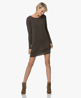 Sibin/Linnebjerg Ella Merino Sweater Dress- Army Green