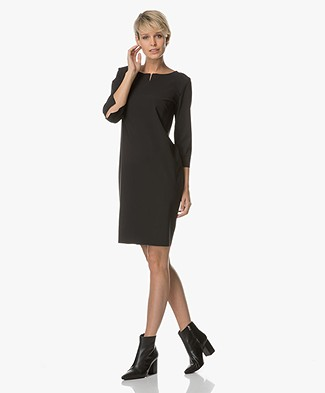 Woman by Earn Cleo Boat Neck Dress - Black