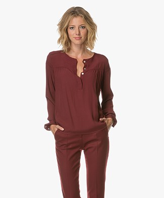 BY-BAR Bella Crepe Blouse - Wine
