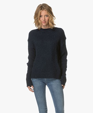 Filippa K Structure R-neck Pullover - Midnight