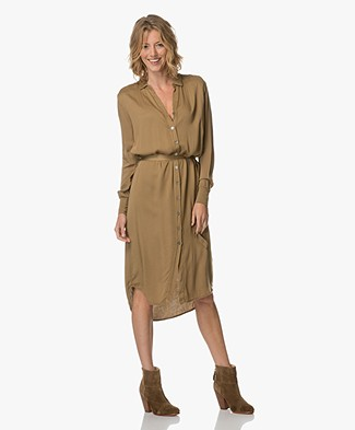 Project AJ117 Torill Viscose Shirt Dress - Moss