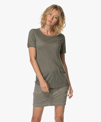 Repeat Modal and Cashmere T-shirt - Khaki