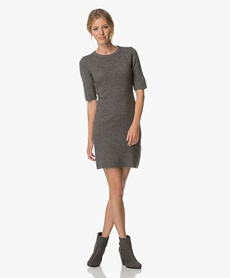 Repeat Wool and Cashmere Dress - Medium Grey