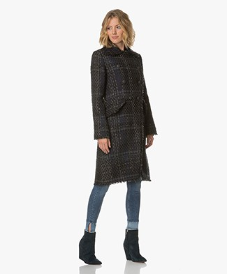 Rag & Bone Nova Tweed Coat - Blue Multi