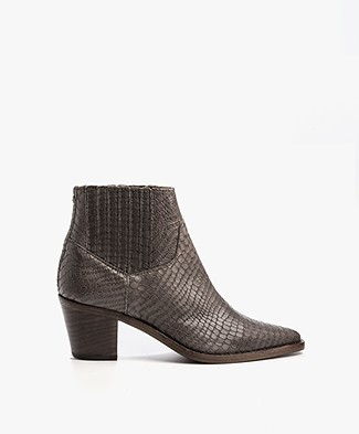 Fred de la Bretonière Leather Boots - Grey