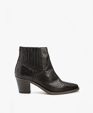 Fred de la Bretonière Leather Boots - Black