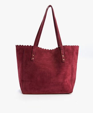 Indi & Cold Suède Shopper - Granate
