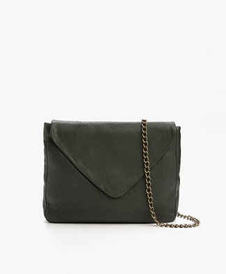 BY-BAR Run Leren Schoudertas - Dark Green