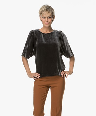 Closed Linnea Velvet Shirt - Anthracite