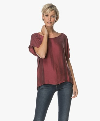 Drykorn Somia Cupro Blouse - Burgundy