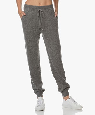 Repeat Cashmere Knit Pants - Medium Grey