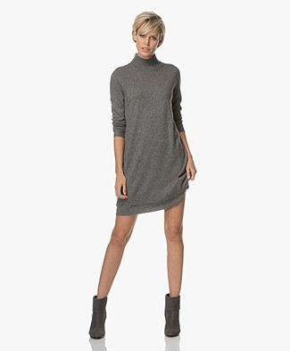 Repeat Cashmere Knitted Dress - Medium Grey