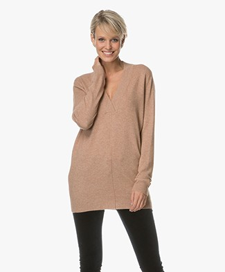 Repeat Wool and Cashmere Pullover - Camel
