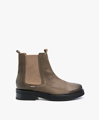 Shabbies Leather Chelsea Boots - Olive Brown