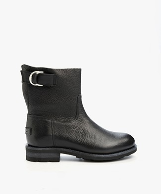 Shabbies Leather Boots - Black