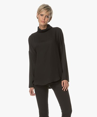 Woman by Earn Clair Jersey Blouse - Black