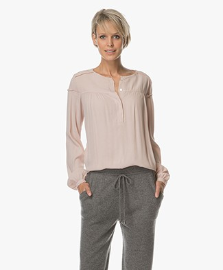 BY-BAR Bella Crêpe Blouse - Dusty Pink