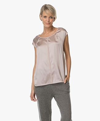 no man's land Zijden Top - Soft Blush