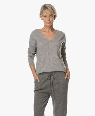 Repeat Pure Cashmere Sweater - Light Grey