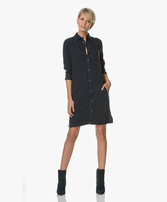 BY-BAR Kyra Shirt Dress - Dark Navy