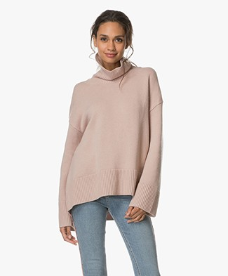FWSS Julie Oversized Pullover with Turtleneck - Dusty Pink